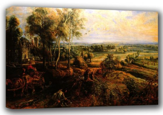 Rubens, Peter Paul: An Autumn Landscape with a View of Het Steen in the Early Morning. Fine Art Canvas. Sizes: A4/A3/A2/A1 (001211)